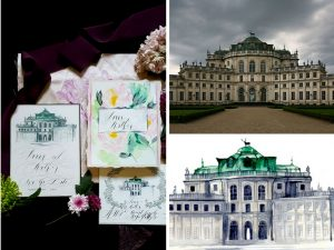 Latest Wedding invitation trends for 2019 watercolour venues