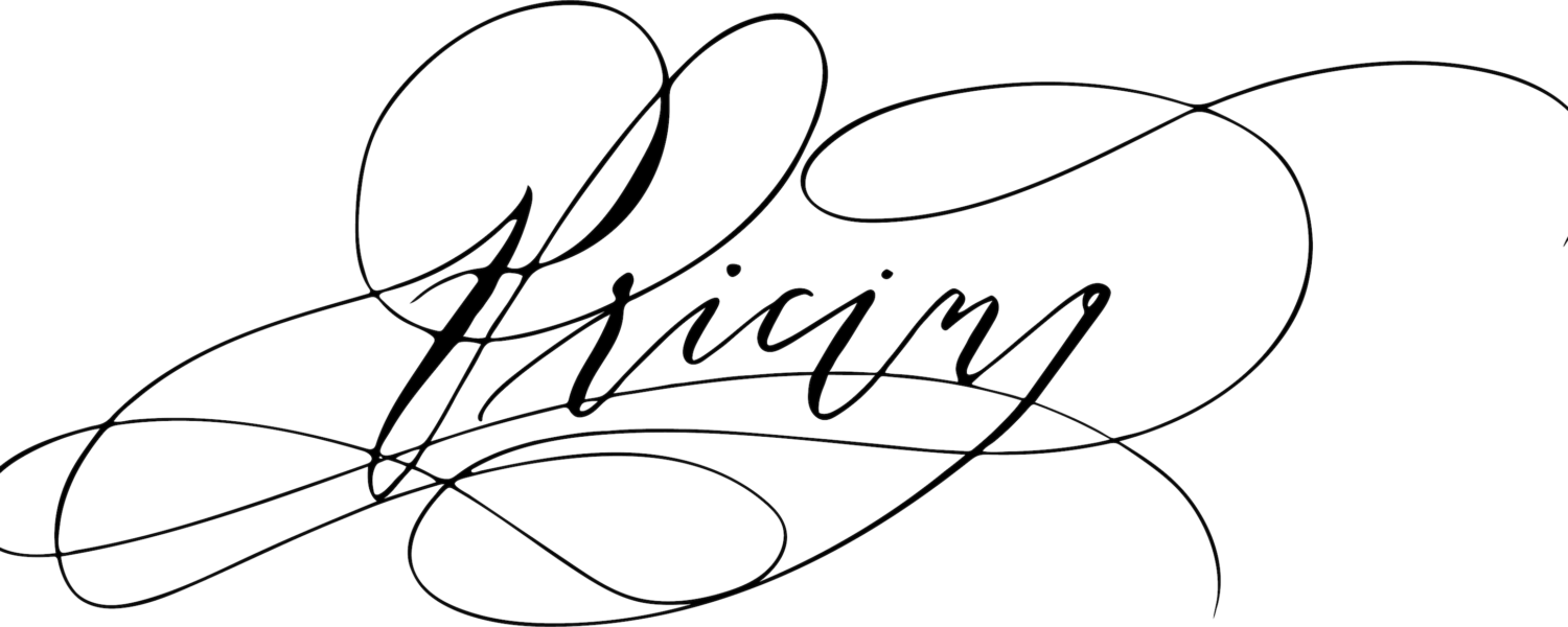 Pricing calligraphy