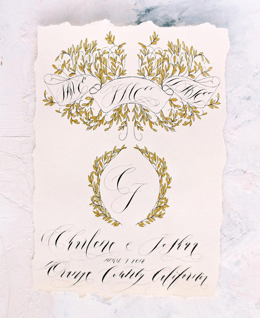 Unique & Luxury Handmade Wedding Invitations gold