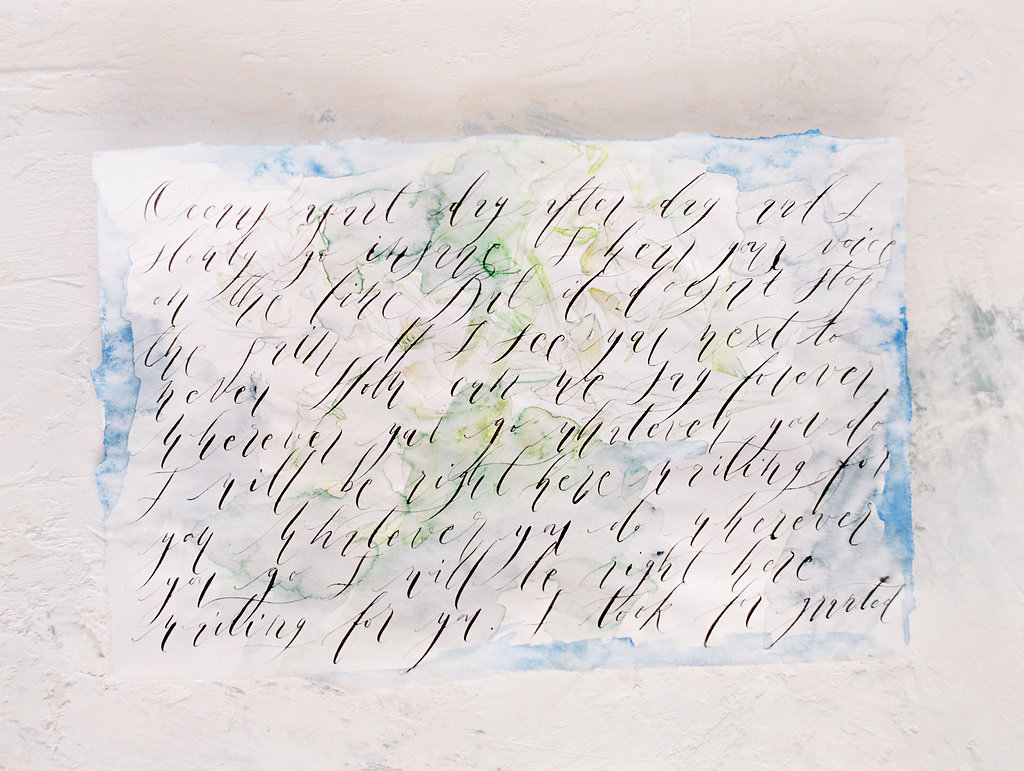 Watercolour wedding invitations wrap - Crimson Letters