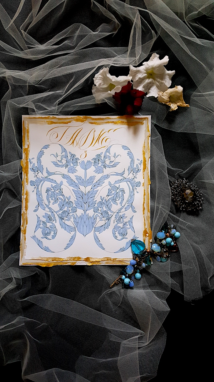 Hand Painted Wedding Invitations table number