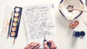 Invitation Glossary calligraphy