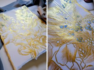 Invitation Glossary gold floral designs