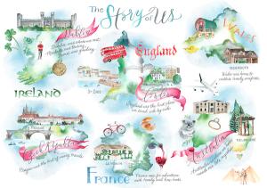 Invitation Glossary wedding map design