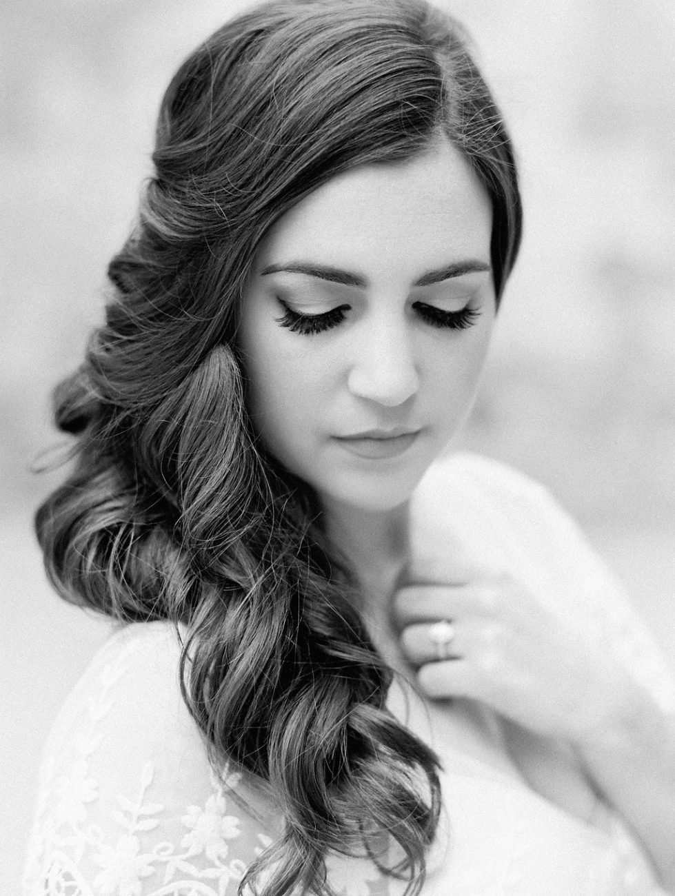 Orange Country wedding inspiration black and white bride