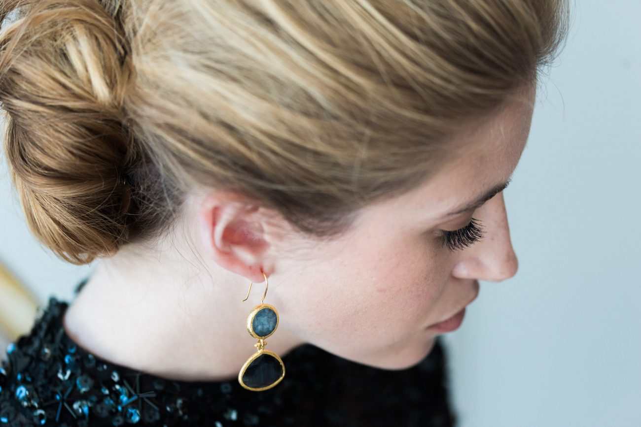 Fine Art Black Tie Wedding Inspiration Shoot bride jewellery