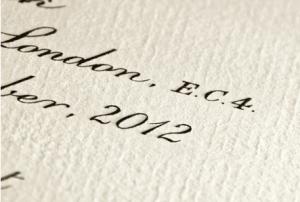 Invitation Glossary Engraving