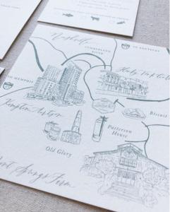 Invitation Glossary Map drawing