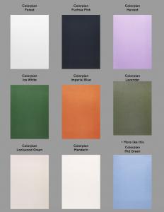 Invitation Glossary coloured paper
