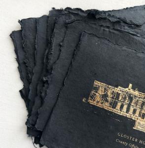 Invitation Glossary hand made paper venue prints