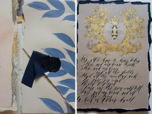 French Style Wedding Invitations envelope and poem