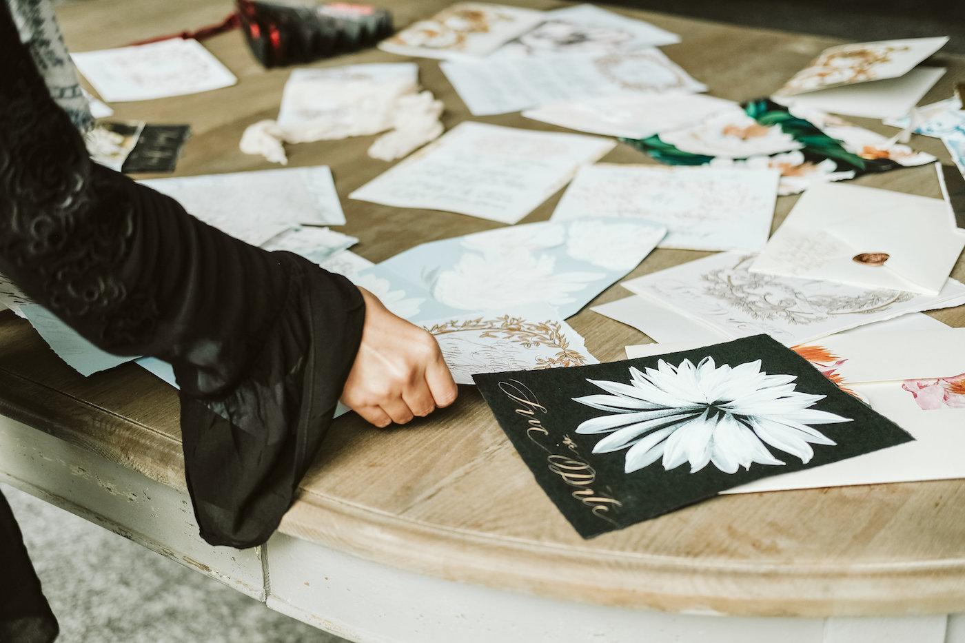 Custom Hand Painted Wedding Invitations