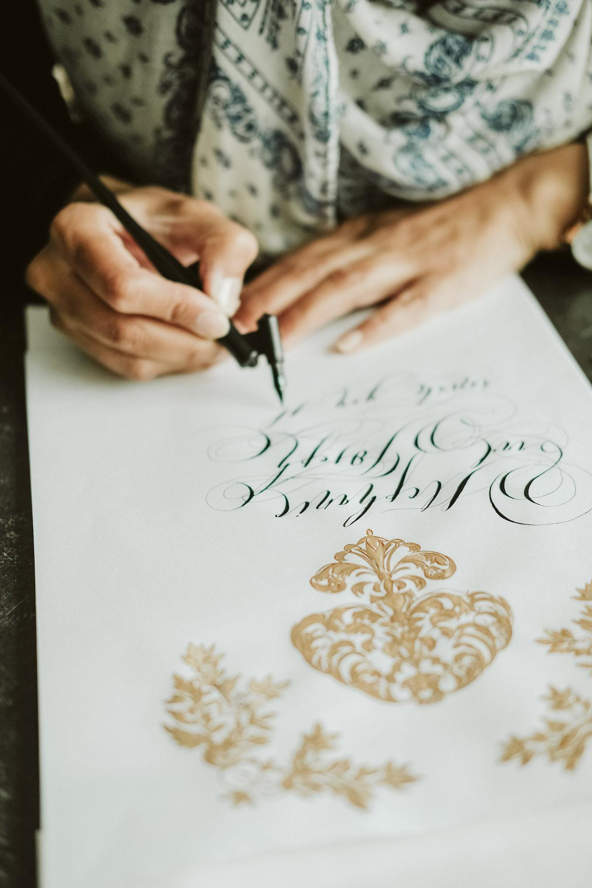 Unique & Luxury Handmade Wedding Invitations calligraphy for weddings