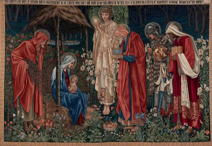 Acrylic Paint Texture Illustrator Burne Jones painting