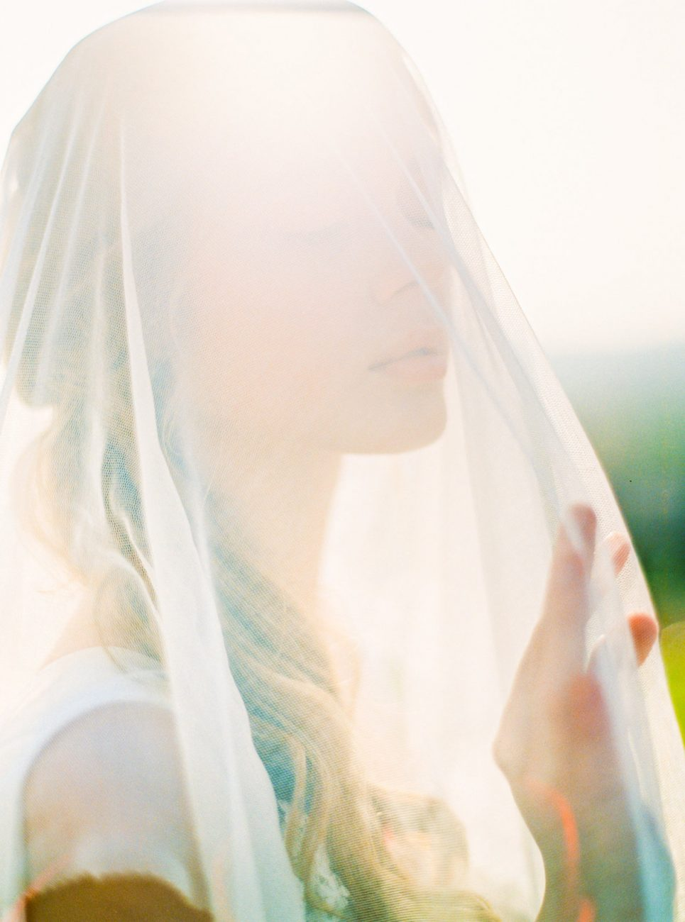 Palace Wedding Inspiration bride with veil