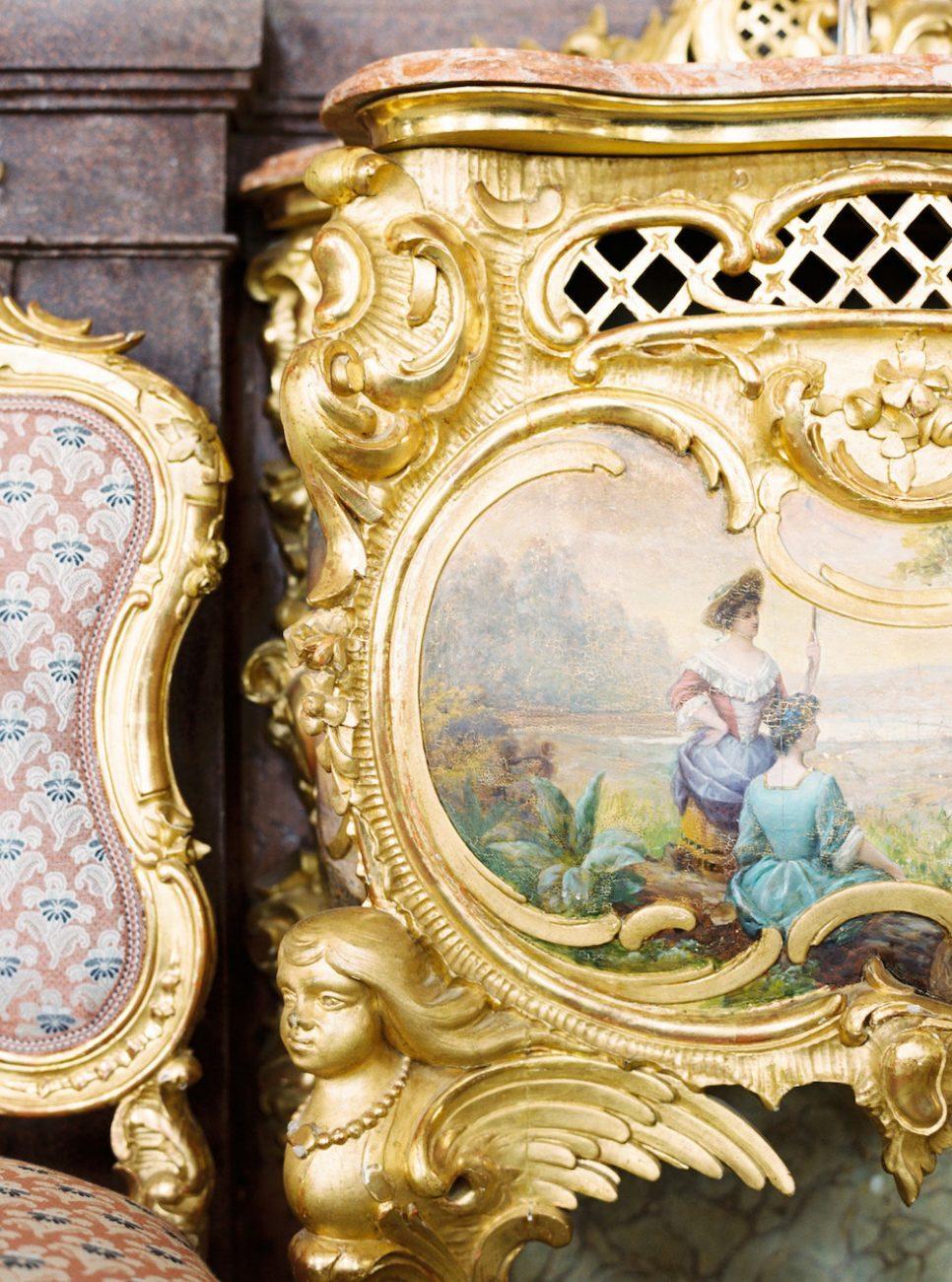 Palace Wedding Inspiration - gold ornate furniture