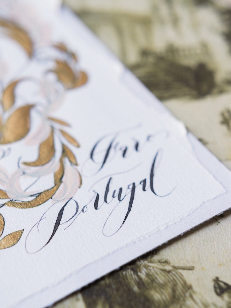 Palace Wedding Inspiration - save the date card detail