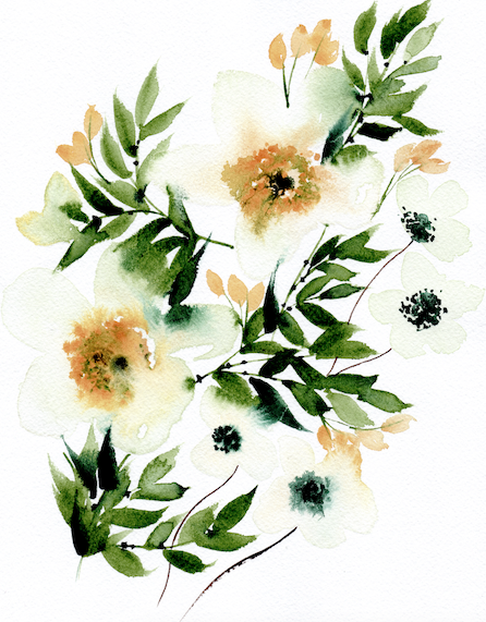 Bespoke Watercolour Wedding Invitations With An Array Of Wildflowers