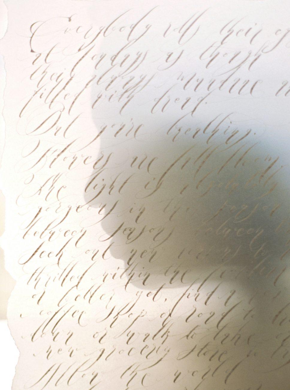 Moody Black Wedding Inspiration ethereal silver calligraphy