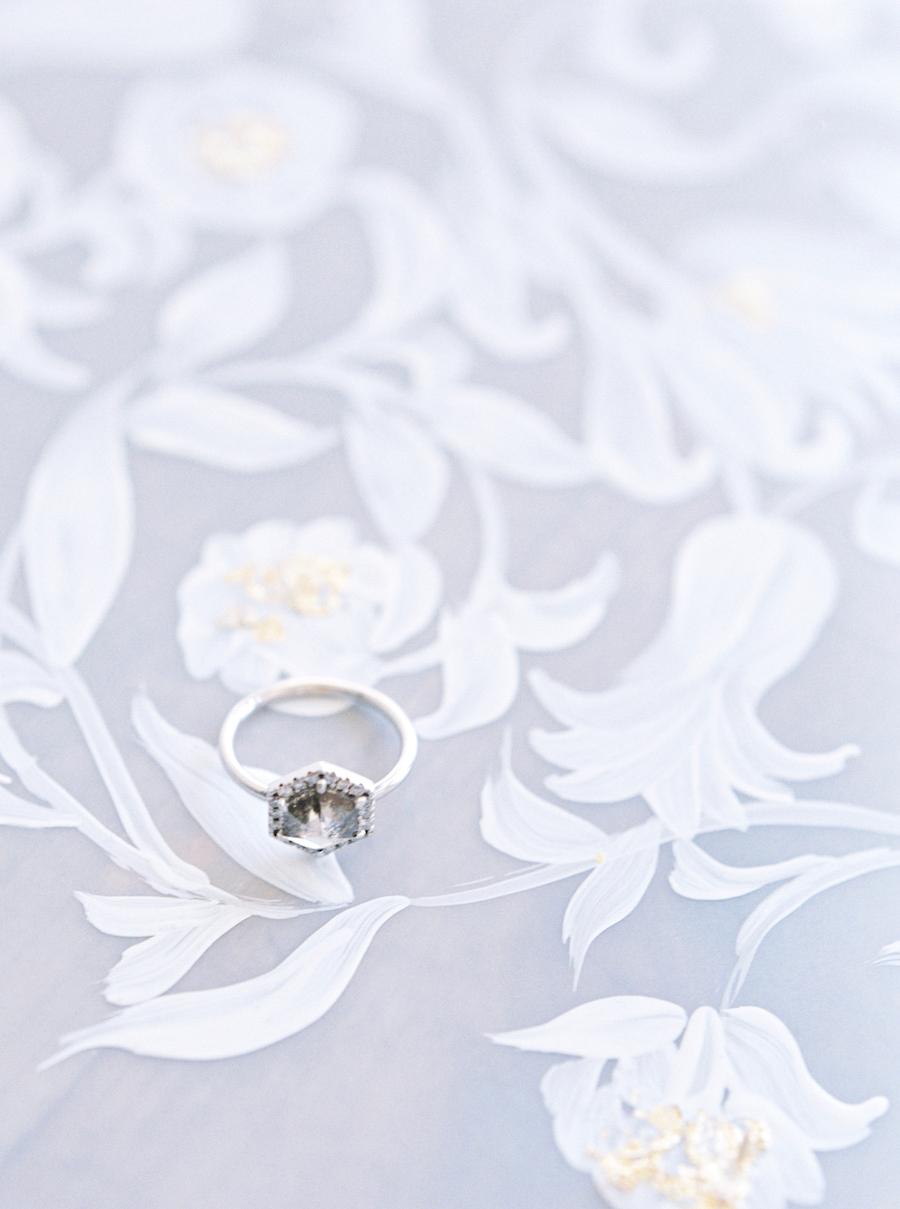 Moody Black Wedding Inspiration_white painted vellum
