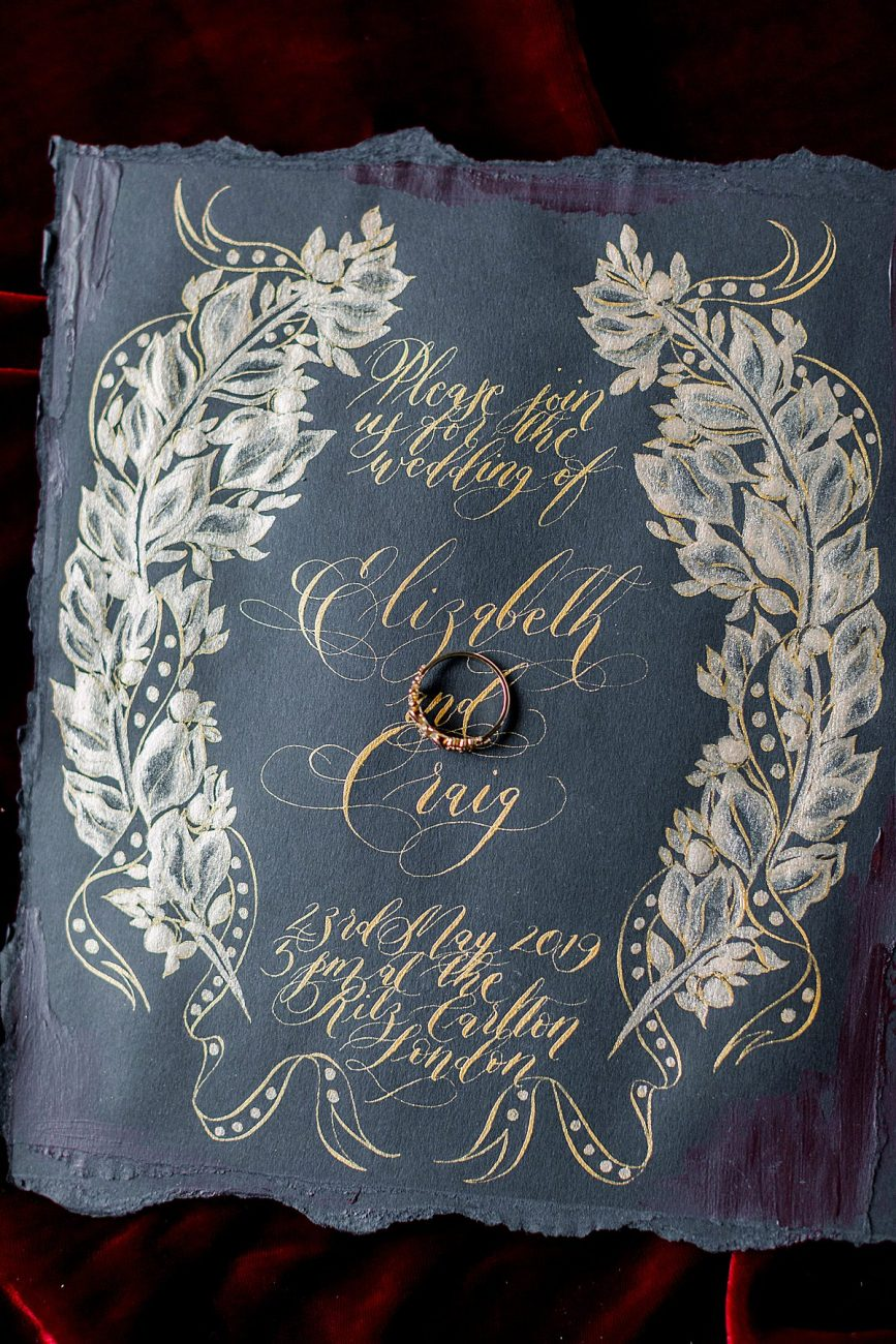 Baroque Wedding black wedding invitation