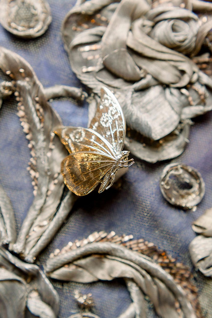 Baroque Wedding butterfly ring