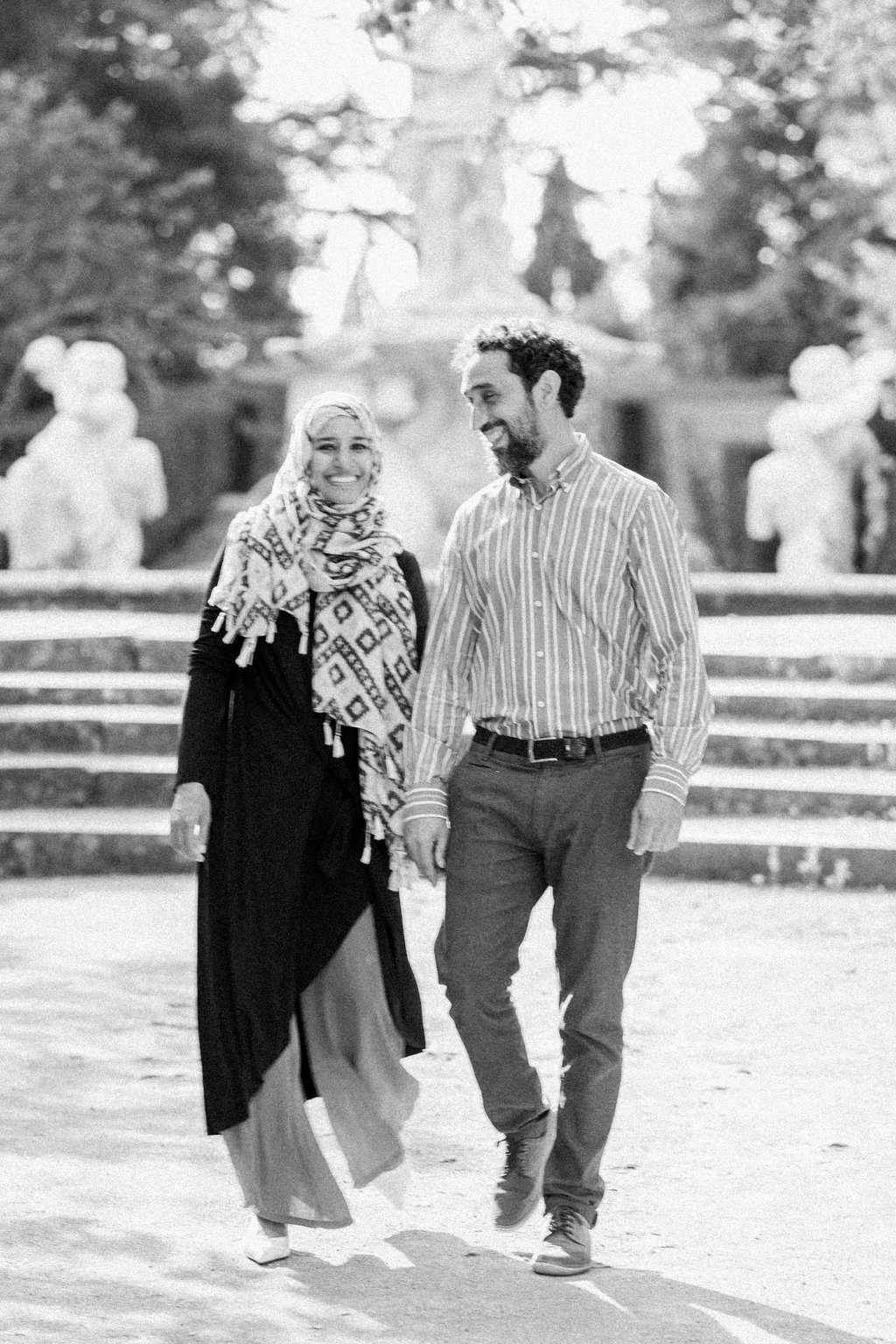 Our marriage a black and white shot