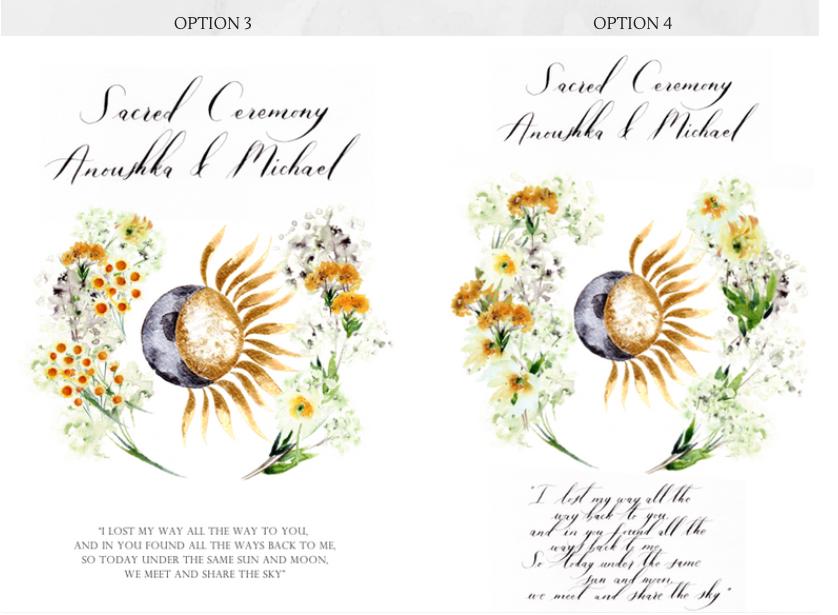 Ceremony book designs