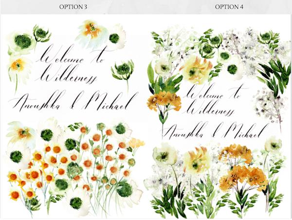 Bespoke wedding stationery Welcome Booklet design variation