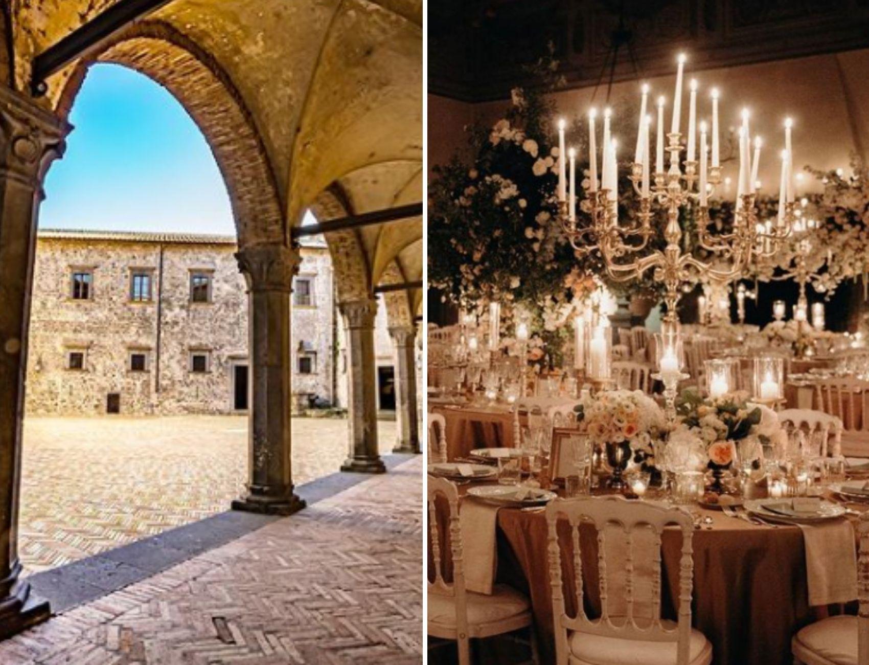 Castello Bracciano, a historial castle for weddings in Italy