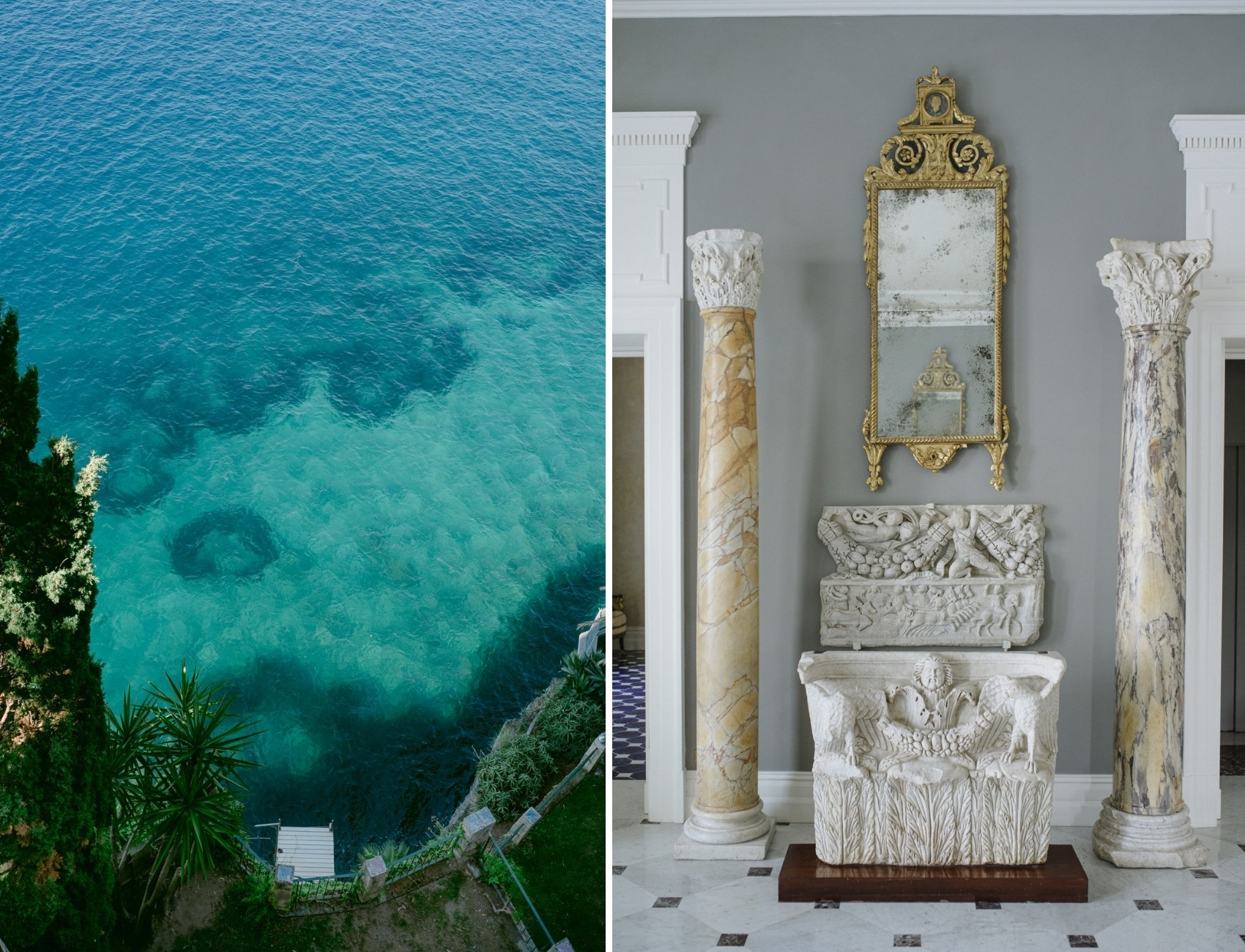 Villa Astor luxury wedding venue in Italy, Sorrento with luxury interiors