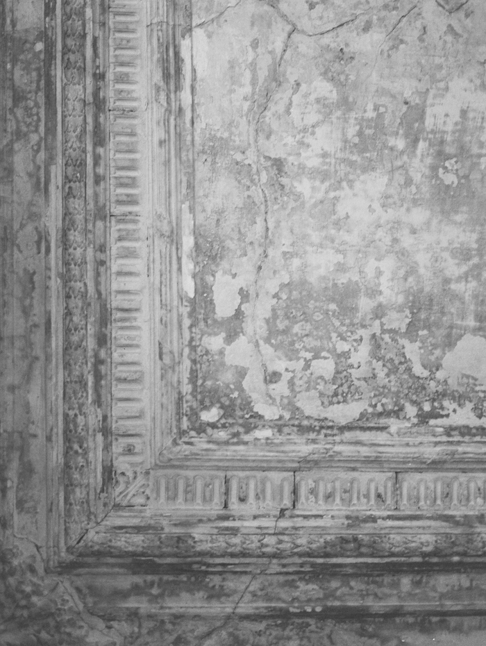 Fine Art Wedding Inspiration in a classical period apartment showing wall detail