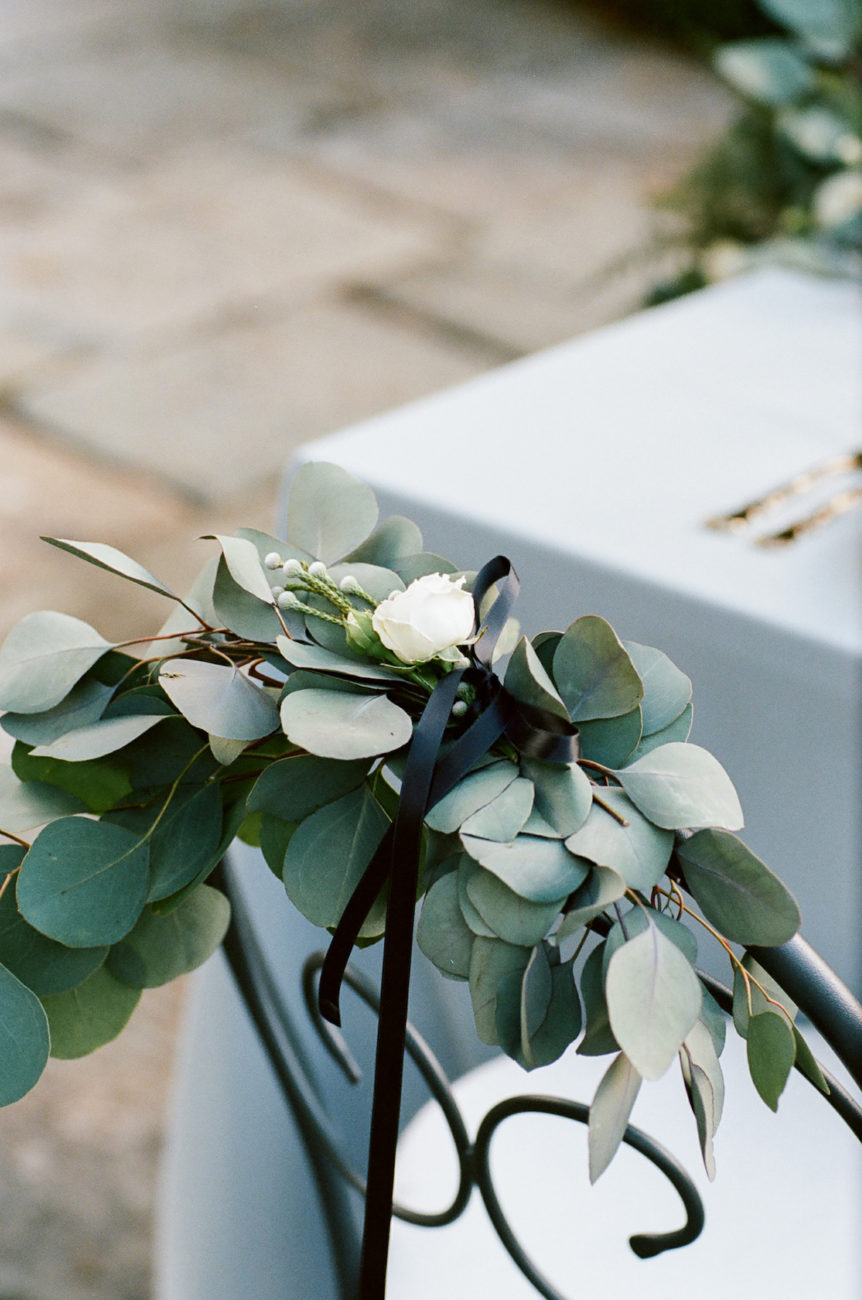 Style Shoot in Tuscany, Italy chair decoration ideas for weddings