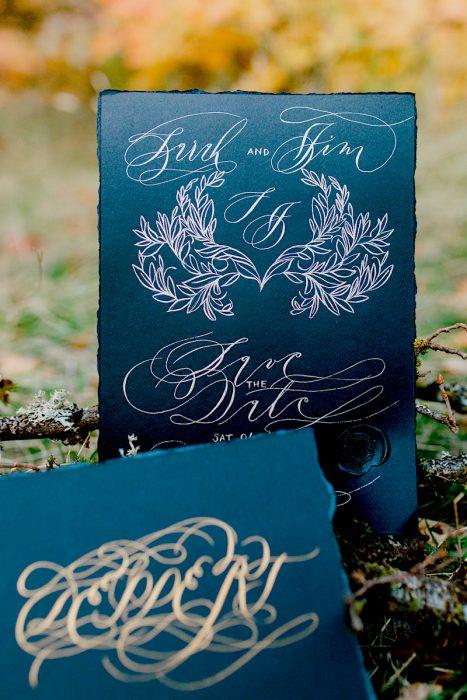 Hand Painted Portfolio Featuring Wedding Stationery