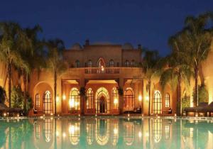 Luxury Wedding in Morocco Villa Marrak at night