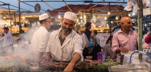 Luxury Wedding in Morocco food market