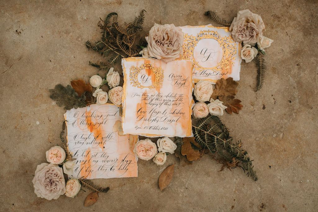 Moroccan style wedding stationery