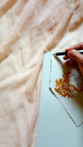 11 Easy Steps Luxury Envelopes (hand painted) tutorial_measuring the size close up view