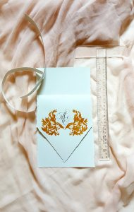 11 Easy Steps Luxury Envelopes (hand painted) tutorial_prepared paper and T-square