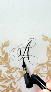 11 Easy Steps Luxury Envelopes (hand painted) tutorial calligraphy on envelope