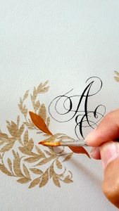 11 Easy Steps Luxury Envelopes (hand painted) tutorial painting with gold acrylic paint 1