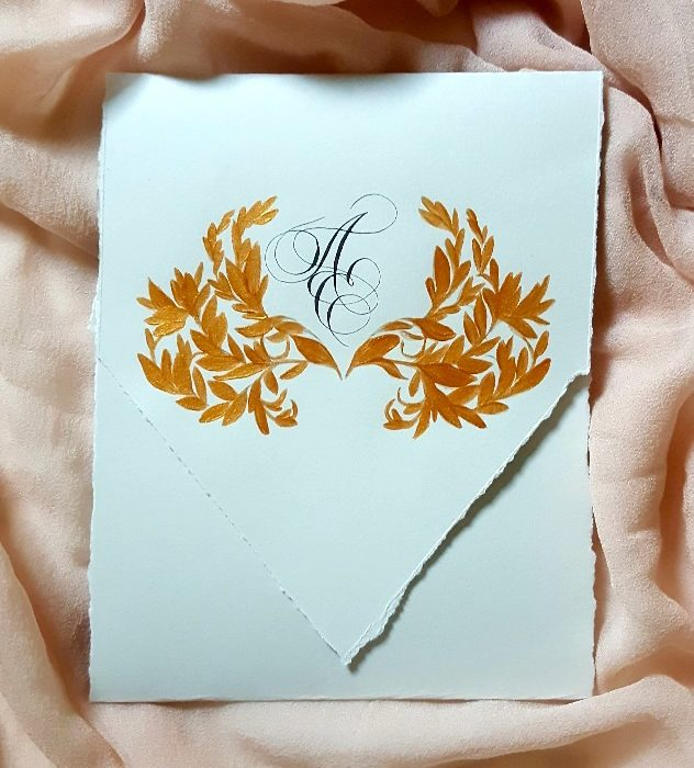Luxury Envelopes (hand painted) tutorial_finished envelope