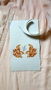 11 Easy Steps Luxury Envelopes (hand painted) tutorial_prepared torn paper