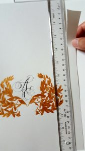 11 Easy Steps Luxury Envelopes (hand painted) tutorial_tearing paper on the sides