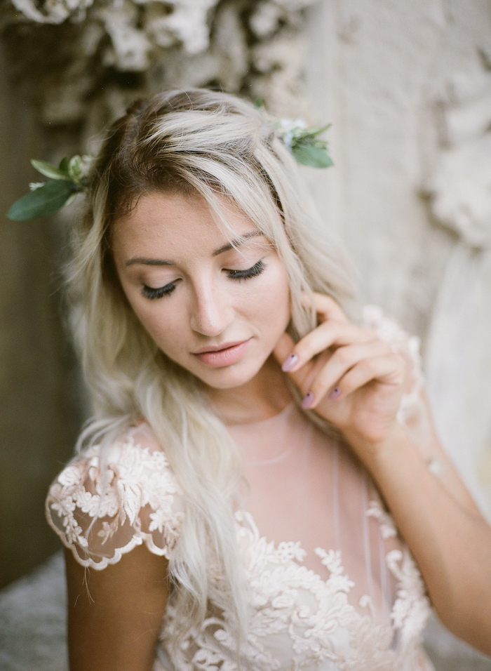 Vizcaya Wedding Inspiration bride with painted nails