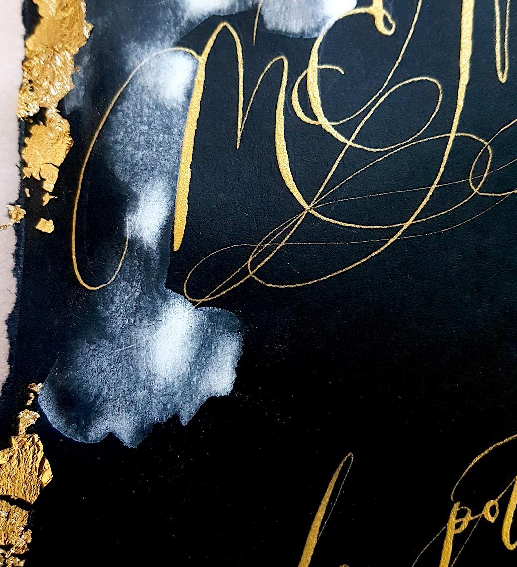Custom Hand Painted Invitations menu with watercolour