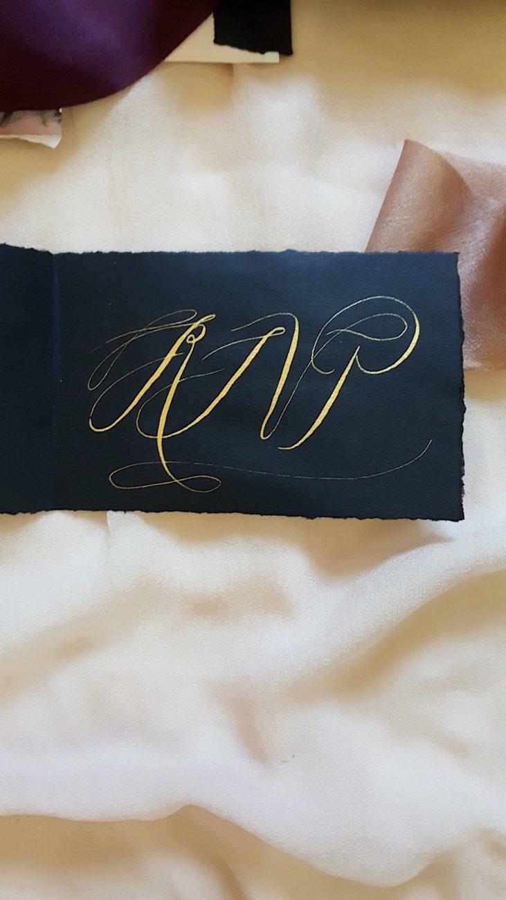 Custom Hand Painted Wedding Invitations rsvp card