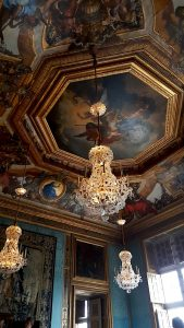 Destination Wedding Locations Chateau Vaux le Vicomte painted ceiling