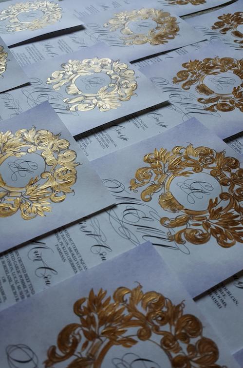 Gold Vintage Crest Design for a Menu Design