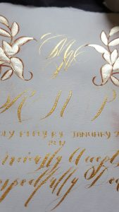 Hand Painted Wedding Stationery Vienna suite rsvp card